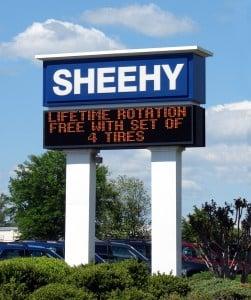 Sheehy Ford digital signs richmond