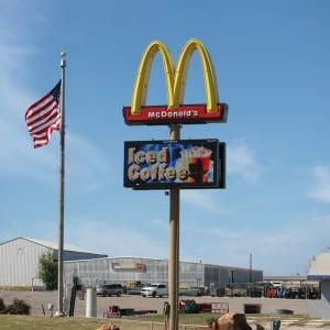 McDonalds digital messaging for restaurants