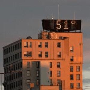 time and temp sign va