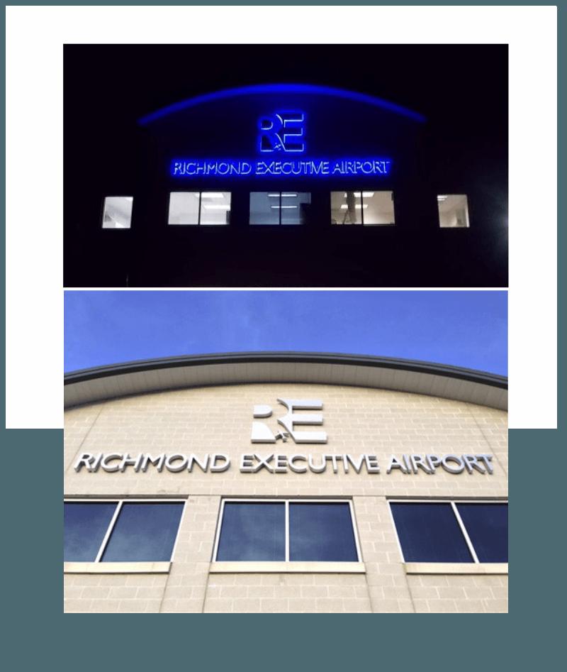 www.holidaysigns.com-Richmond-Executive-Airport-brand-awareness