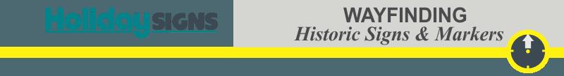 wayfinding header historic markers