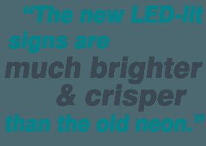 October 2014- General Signage- LED Retrofit- virginia diner Blog Blurb 1