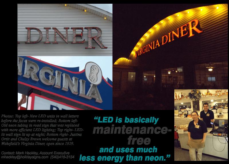 October 2014- General Signage- LED Retrofit- NEON-TO-LED-virginia diner last pic