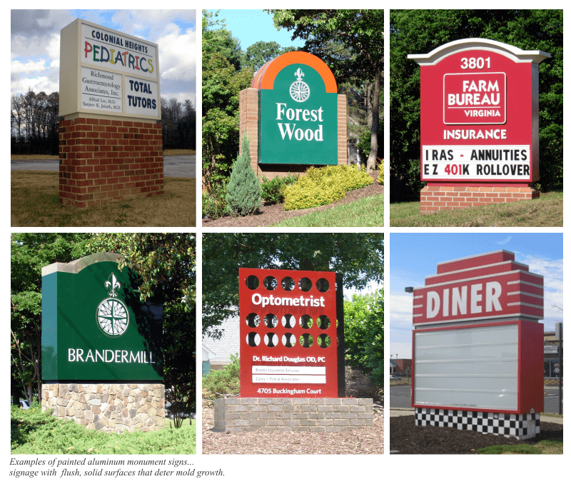 Examples of Custom Painted Aluminum Sign Cabinets-Monument-Signs-VA