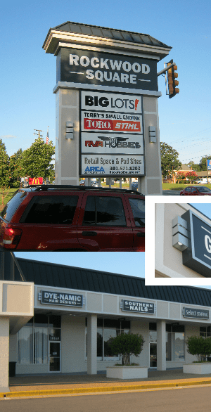 www.holidaysigns.com-richmond-va-affordable-shopping-center-electric-signs-signage-retail-sign-cabinets-custom-commercial-sign-systems-Rockwood-Square-Light-Boxes-Pan-Faces-Service-Installation
