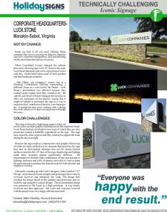 July 2014 Iconic Signs Newsletter Luck Stone pic