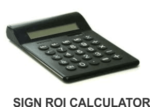 How Much Does a Digital Sign Cost roi calc