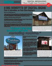 January 2014 Digital Messaging-6 Benefits of Digital Signs-Part 4