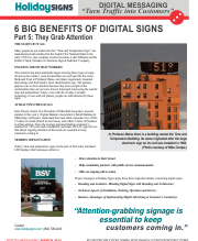 March 2014 Digital Messaging-6 Benefits of Digital Signs-Part 5-Time & Temp-SALES
