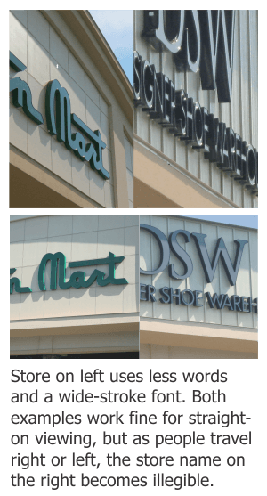 May 2015- General Signage- Problems with Building Mounted Letters viewing angle pis